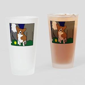heightdogsrule_blk Drinking Glass