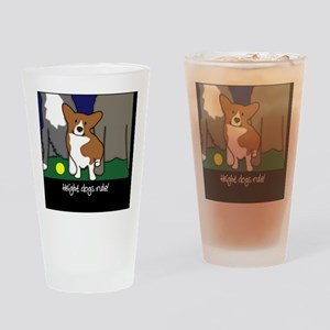 heightdogsrule_tile Drinking Glass