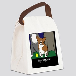 heightdogsrule_tile Canvas Lunch Bag