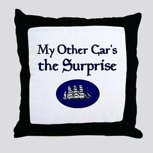 My Other Car's the Surprise Throw Pillow