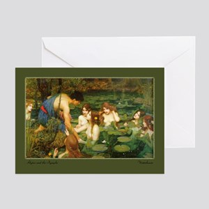 """""""Hylas and the Nymphs"""" Greeting Cards (Package of"""