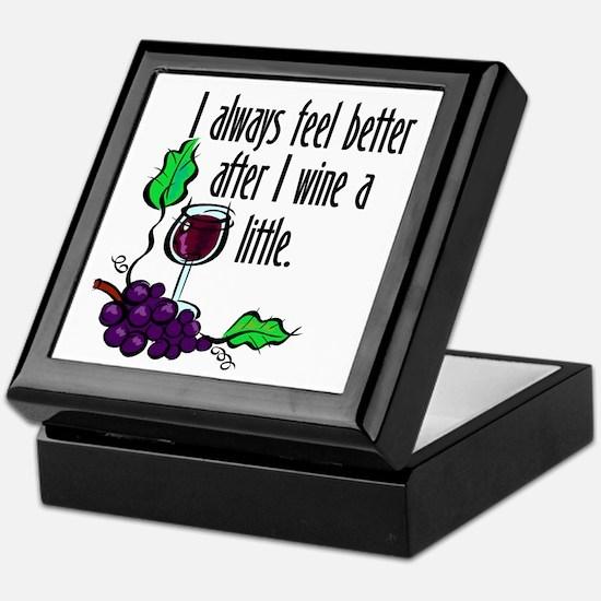 I Whine & Wine Keepsake Box