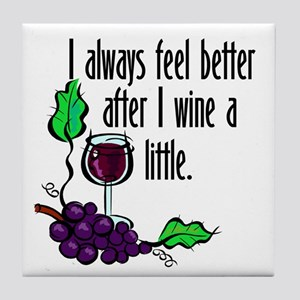I Whine & Wine Tile Coaster