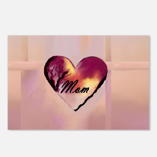 Mom, My Heart Postcards (Package of 8)