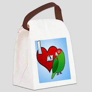 iheartmy_cherryhead_ornament Canvas Lunch Bag
