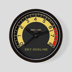 Sky Redline Tachometer Wall Clock