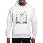 Maltese Holiday/Christmas Hooded Sweatshirt