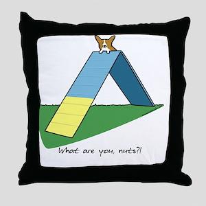 agilitycorgi Throw Pillow