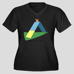 agilitycorgi Women's Plus Size Dark V-Neck T-Shirt