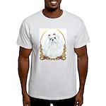 Maltese Holiday/Christmas Ash Grey T-Shirt