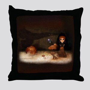 Bird on wall.. Throw Pillow