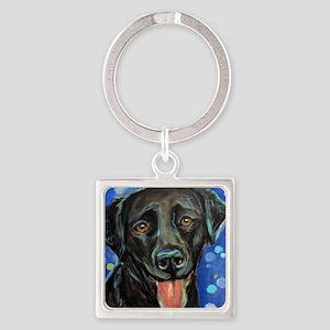 Black Labrador smile Keychains