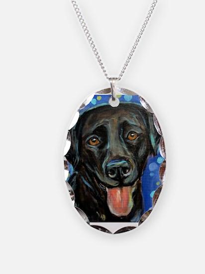 Black Labrador smile Necklace