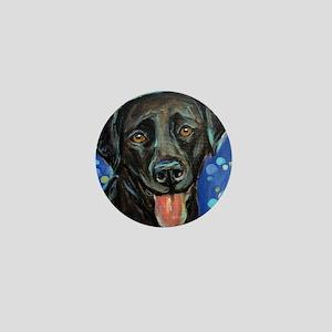 Black Labrador smile Mini Button