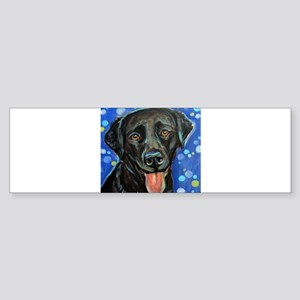 Black Labrador smile Bumper Sticker