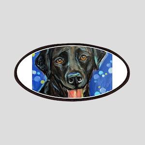 Black Labrador smile Patches