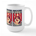 Obey the CORGI! USA Large Mug