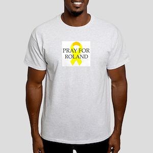 Pray for Roland Ash Grey T-Shirt