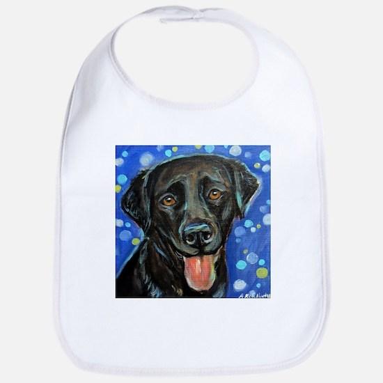 Black Labrador smile Bib