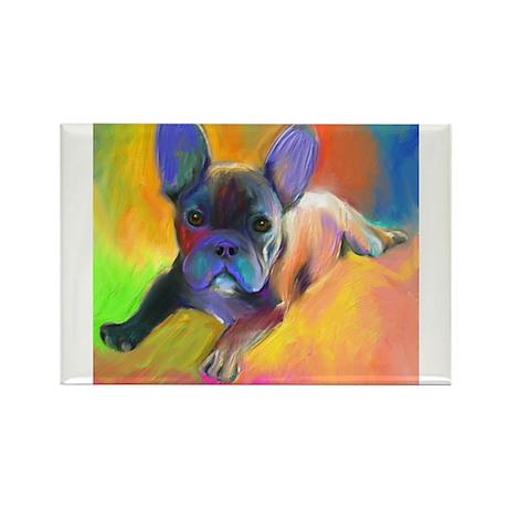 French bulldog 1 Rectangle Magnet