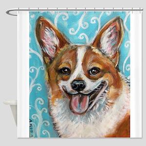 Welsh Corgi Smile Shower Curtain