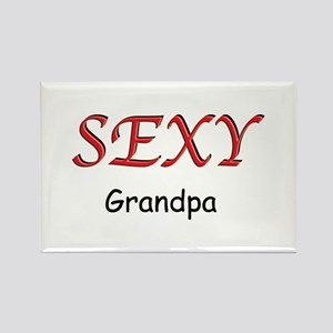 Sexy Grandpa Rectangle Magnet
