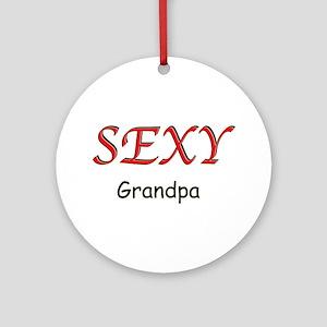 Sexy Grandpa Ornament (Round)
