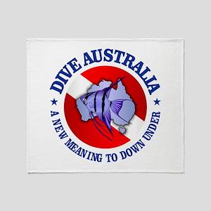Dive Australia (rd) Throw Blanket