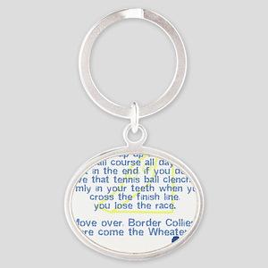 herecomethe_softcoat Oval Keychain