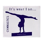 Gymnastics Throw Blanket - Do