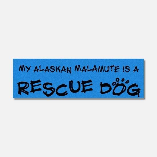 alaskanmalamute_rescuedog Car Magnet 10 x 3