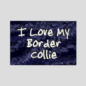 bordercollie_funklove_oval Rectangle Magnet
