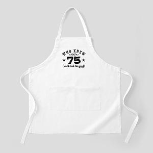 Funny 75th Birthday Apron