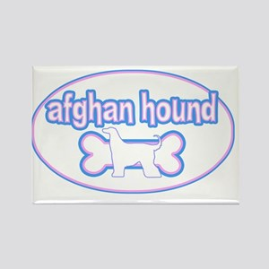 cutesy_afghan_oval Rectangle Magnet