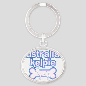 cutesy_auskelpie Oval Keychain