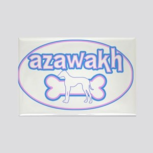 cutesy_azawakh_oval Rectangle Magnet