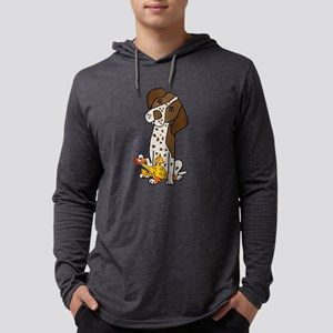 German Short-haired Pointer with Mens Hooded Shirt