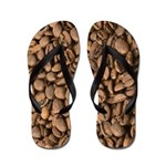 Aromatic Roasted Coffee Beans Flip Flops
