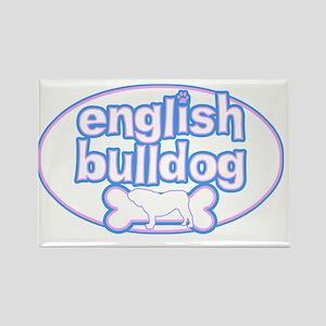cutesy_englishbulldog_oval Rectangle Magnet