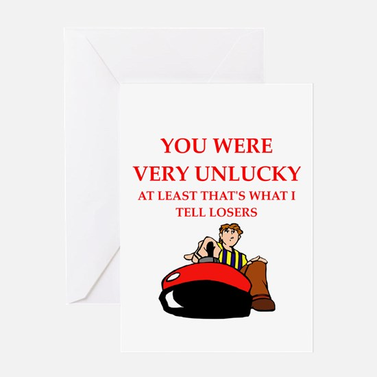 curler Greeting Cards