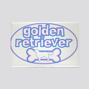 cutesy_golden_oval Rectangle Magnet