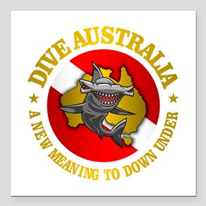 "Dive Australia (hammerhead) Square Car Magnet 3"" x"