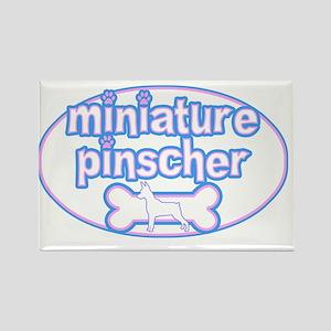 cutesy_minpin_oval Rectangle Magnet