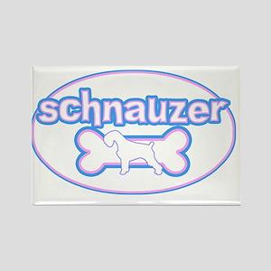 cutesy_schnauzer_oval Rectangle Magnet