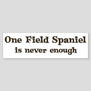 One Field Spaniel Bumper Sticker