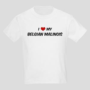 I Love: Belgian Malinois Kids T-Shirt