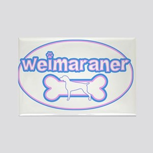 cutesy_weimaraner_oval Rectangle Magnet