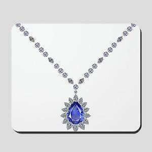 Sapphire Pendant Necklace Mousepad