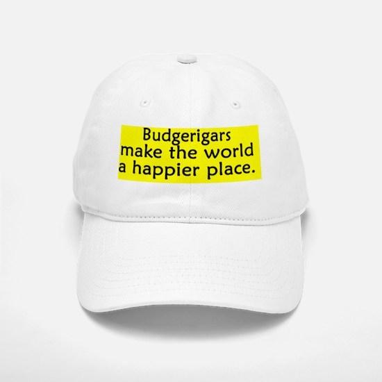 happyplace_budgie Baseball Baseball Cap