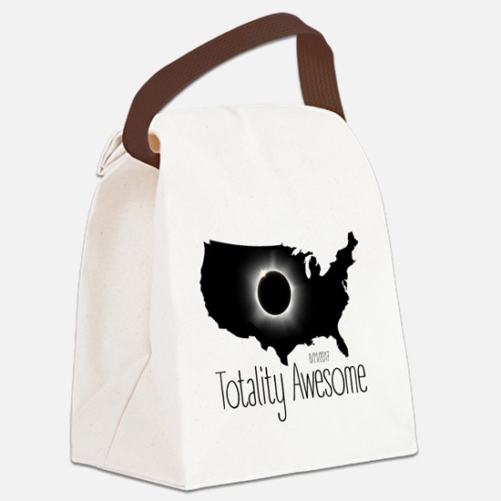 Funny Lunar Canvas Lunch Bag